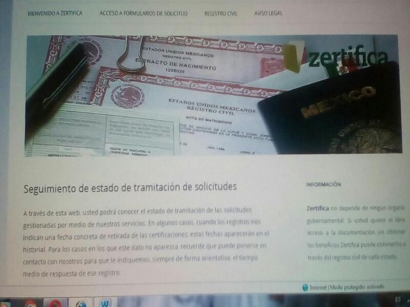FRAUDE CON ACTAS DEL REGISTRO CIVIL POR INTERNET - TERMÁPOLIS ...
